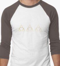 Sierpinski, Triangle, Mathematics, Fractal, Math, Geometry Men's Baseball ¾ T-Shirt
