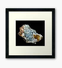 Botryoidal Agate in Blue Framed Print