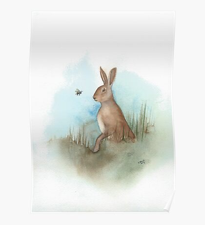 Hare and Bee Poster