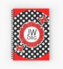JW.ORG (Retro Red and Butterflies) Spiral Notebook