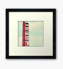 vintage motel Framed Print