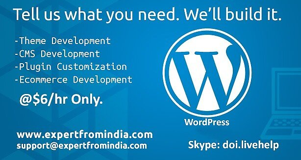 WordPress Development & Solutions by expertfromindia