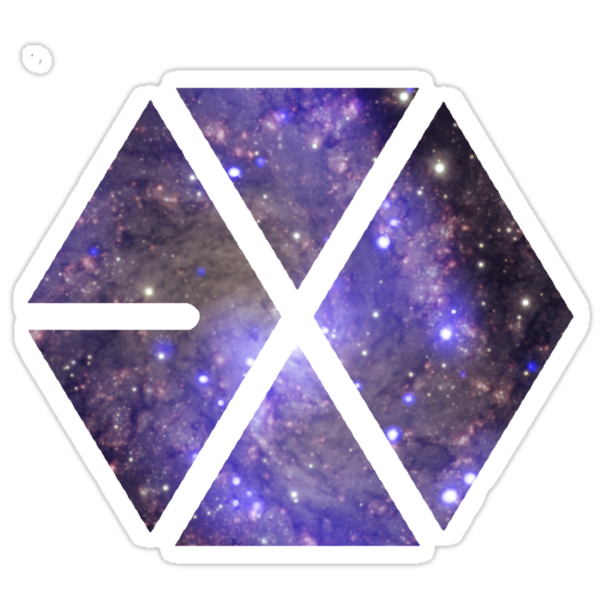 """EXO logo"" Stickers by beforethedawn 