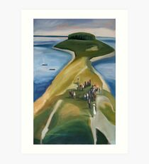 ISLAND WEDDING . WHALEBOAT Art Print