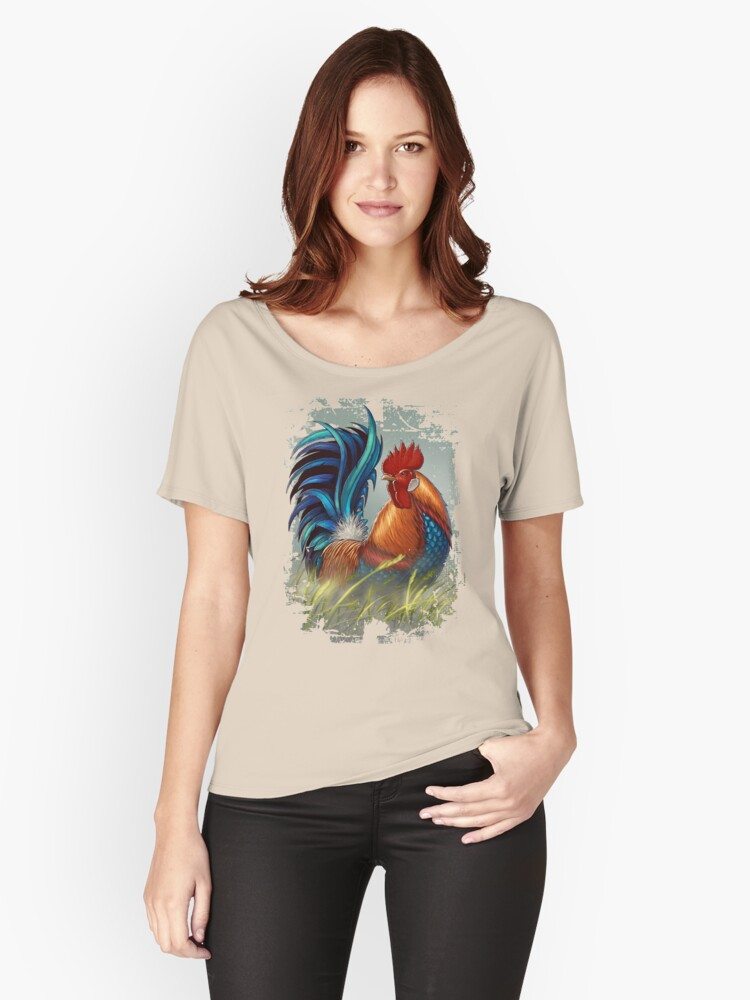 The King Rooster Women's Relaxed Fit T-Shirt Front