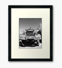 Big Diamond T US Army Recovery Truck Framed Print