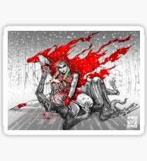 Red Knee-Ride Hood Sticker