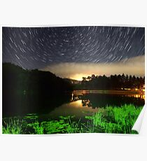 Wildcat Lake Star Trail Poster