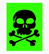 SKULL AND CROSSBONES by Zombie Ghetto Photographic Print