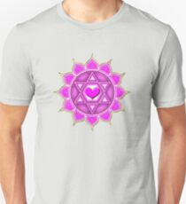 Anahata Heart Chakra Centre Of Love & Compassion Unisex T-Shirt