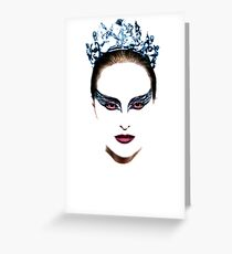 Black Swan face Greeting Card