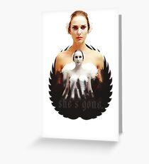 Black Swan sweet girl Greeting Card