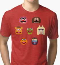 8-Bit Muppets Tri-blend T-Shirt