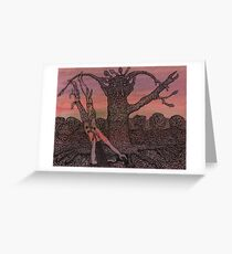 The Hanged Woman Greeting Card