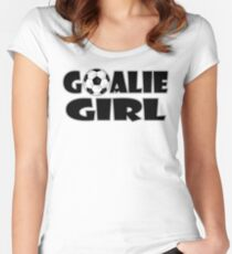 Soccer Player Goalie Girl  Women's Fitted Scoop T-Shirt