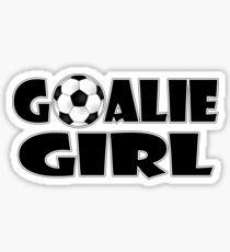 Soccer Player Goalie Girl  Sticker