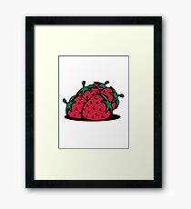 Strawberry fruit sweet bio Framed Print