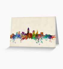 Cleveland Ohio Skyline Cityscape Greeting Card