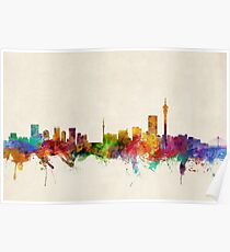 Johannesburg South Africa Skyline Poster