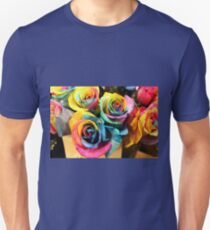 Colorful Bouquet of Rainbow Roses Unisex T-Shirt