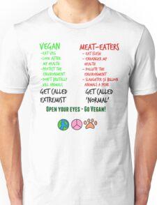 Open Your Eyes - Go Vegan! Unisex T-Shirt