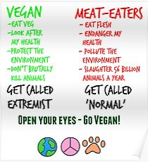 Open Your Eyes - Go Vegan! Poster