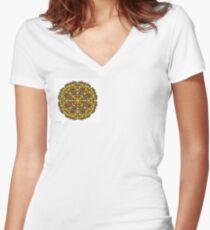 Basket of Apples c1 Women's Fitted V-Neck T-Shirt