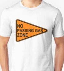 No Passing Gas Road Sign Slim Fit T-Shirt