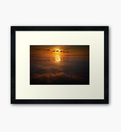 calm dawn Framed Print