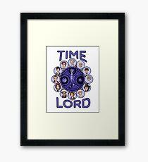 TIme Lord (blue version) Framed Print