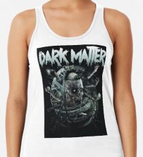 dark matter skull logo Racerback Tank Top