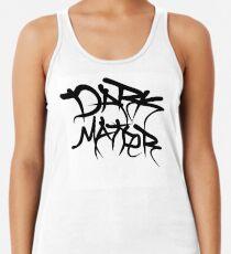 dark matter graffiti logo Racerback Tank Top