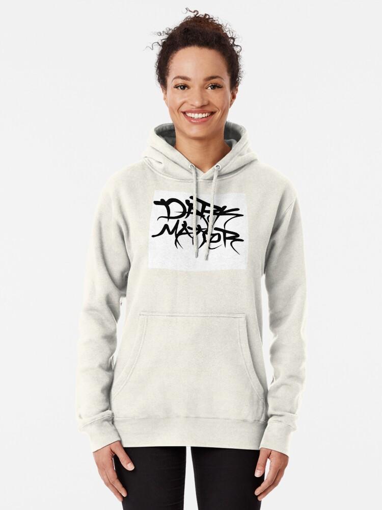 Alternative Ansicht von dark matter graffiti logo Hoodie