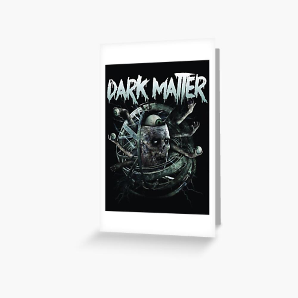 dark matter graffiti logo Grußkarte