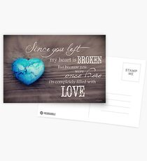 Broken Heart Full of Love Postcards
