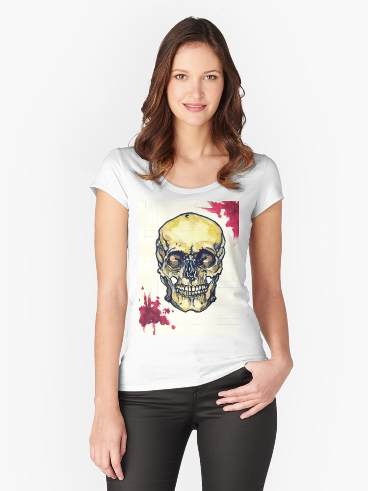 Bloody Skull Women's Fitted Scoop T-Shirt Front