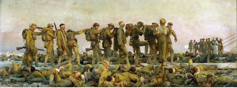 Vintage John Singer Sargent World War I Gassed by pdgraphics
