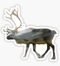 Pegatina Reindeer Road to Homer