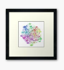 The Graph Of Ice Hockey Players Framed Print