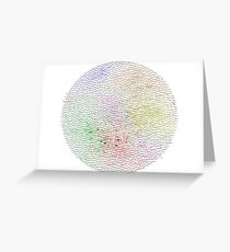 The Graph Of Ideas Greeting Card