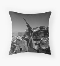 Army mobile equipment Throw Pillow