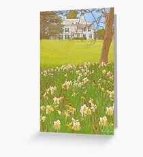 The Mansion in Spring Greeting Card