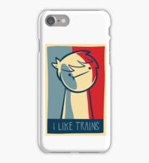 "Galaxy S4 snap case ""I like trains"" iPhone Case/Skin"