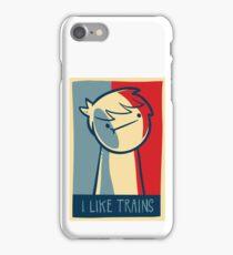 "iphone 5 capsule case ""I like trains"" iPhone Case/Skin"