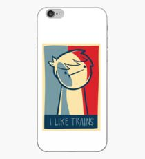 "iphone 4 deflector case ""I like trains"" iPhone Case"