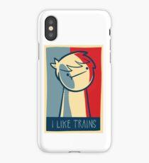 "iphone 4 deflector case ""I like trains"" iPhone Case/Skin"