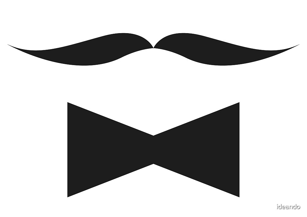 Moustach & papillon by ideando