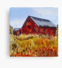 Red Barn Landscape Canvas Print