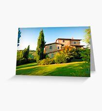 Tuscany Farmhouse  Greeting Card