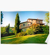 Tuscany Farmhouse  Poster